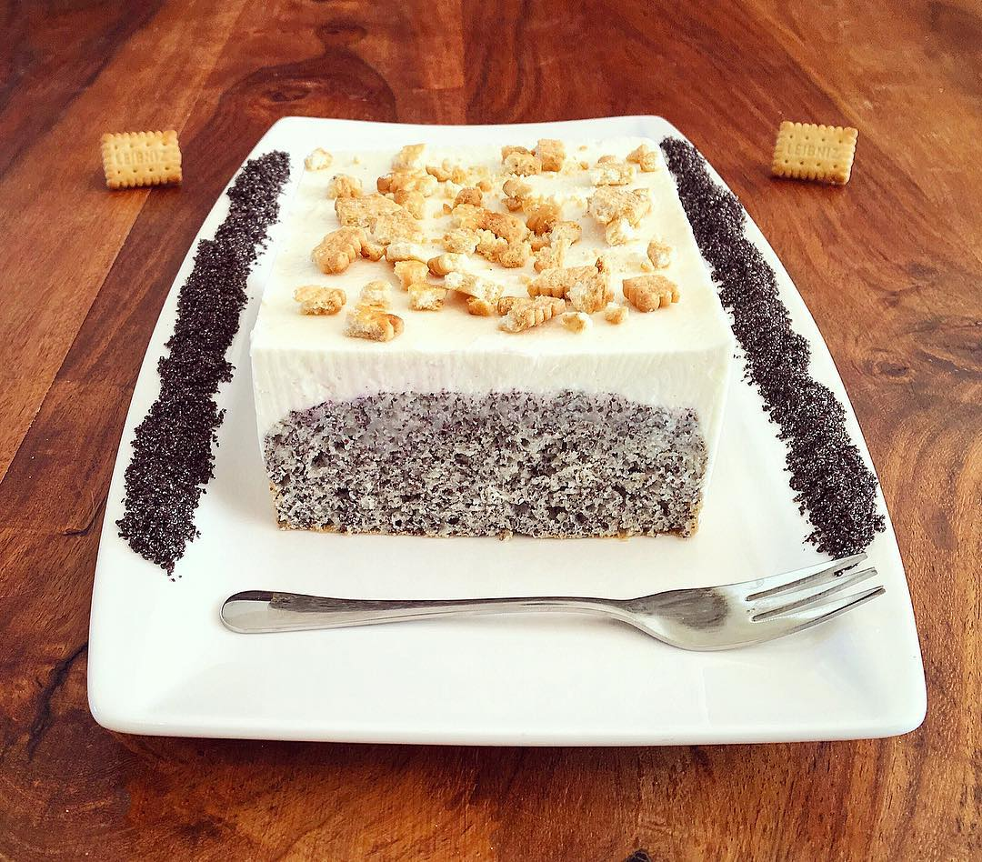 Mohn Butterkeks Kuchen Fitandsoulfood