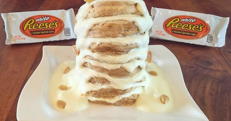 Reeses White Chocolate Peanutbutter Cup Pancakes
