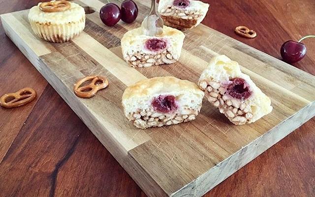 Brezel Kirsch Muffins