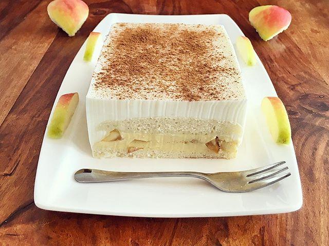 Vanillepudding Apfel Zimt Kuchen Fitandsoulfood