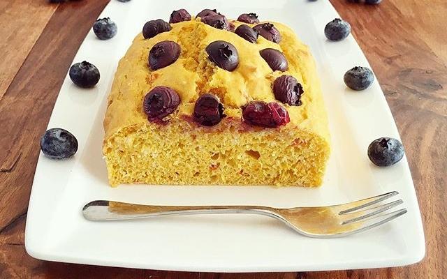 Kürbis Blaubeer Kuchen