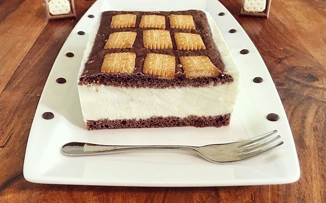 Butterkeks Creme Kuchen