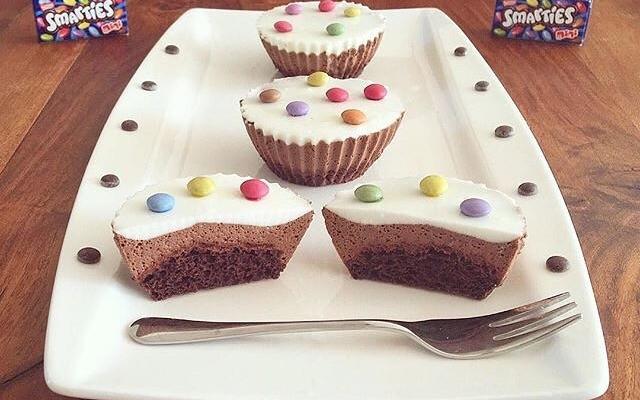 Doppel Schoko Smartie Muffins