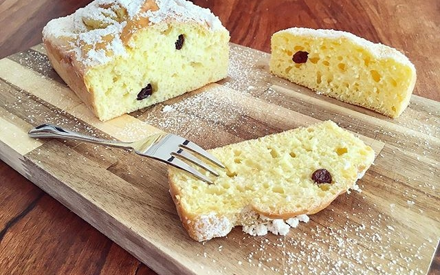 Zitronen Rosinen Kuchen