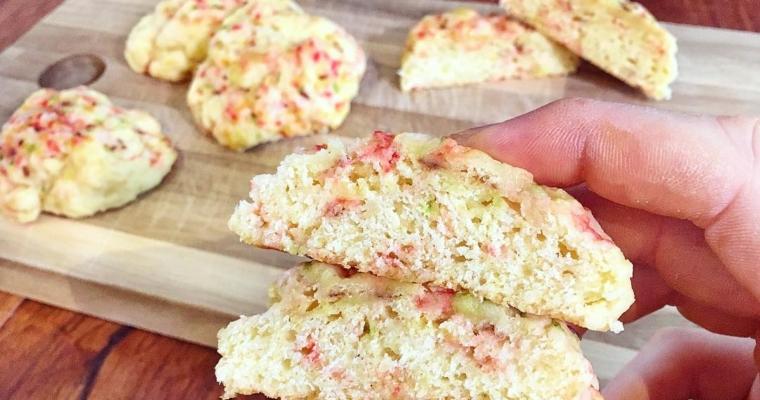 White Chocolate Birthday Cake Cookies